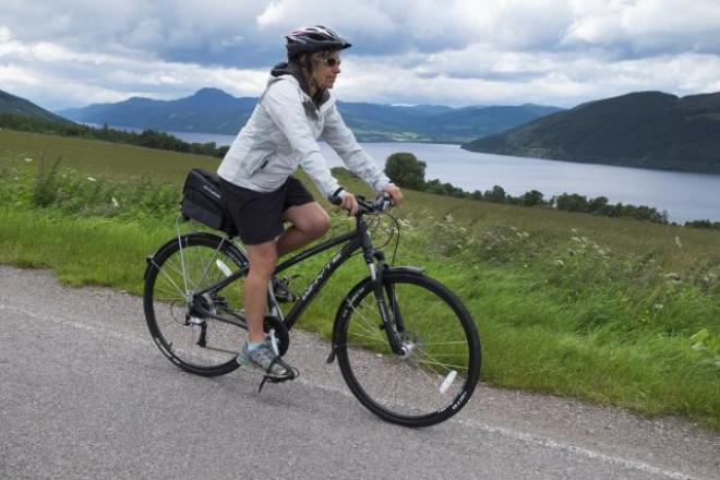 The higher road above the southern shore of Loch Ness