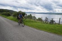 Cycling along the north side of the Beualy Firth